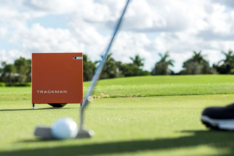 Golf lessons and training using Trackman technology